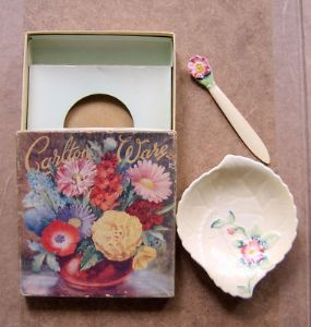 Carlton Ware Small Butter Dish - Wild Rose - Boxed